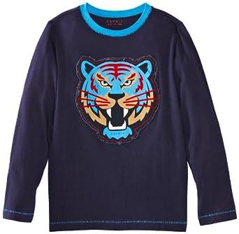 ESPRIT Sweatshirt   Col ras du cou Manches longues Garçon - Bleu - Blau (462 STREAM BLUE) - FR : 6 ans (Taille fabricant : 116/122)