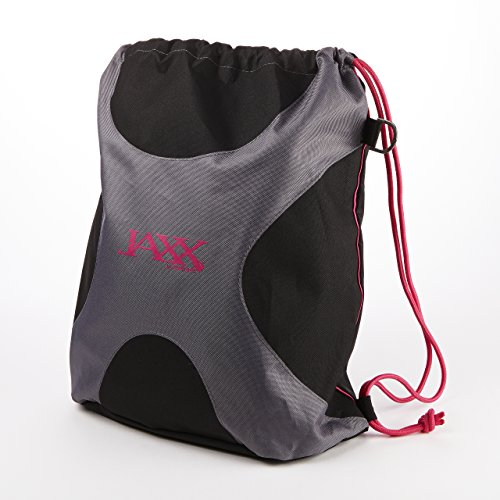 Fit & Fresh Jaxx Drawstring Gym Bag (Black & Pink)