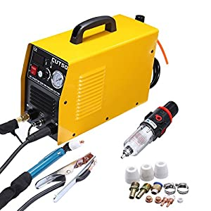 PanelTech 110V/220V Portable Electric Digital Plasma Cutter 50AMP CUT50 Digital Inverter w/LCD Display from PanelTech Ltd