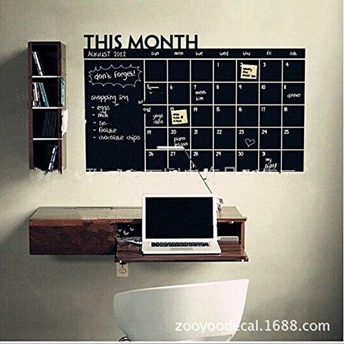 gmmiao-home-office-decor-chalk-board-blackboard-monthly-calendar-vinyl-wall-sticker