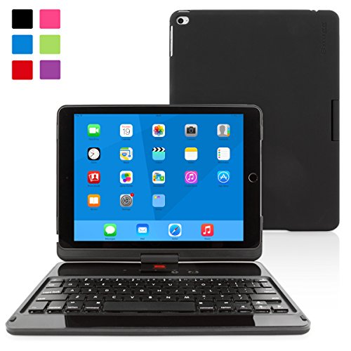 Snugg Ultra Slim 360 Rotatable Keyboard Case with Bluetooth Connectivity for Apple iPad Air 2 - Black (Ipad Air 2 Top Rated compare prices)