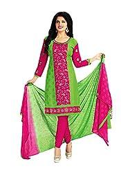 Aarvi Women's Cotton Unstiched Dress Material Multicolor -CV00109
