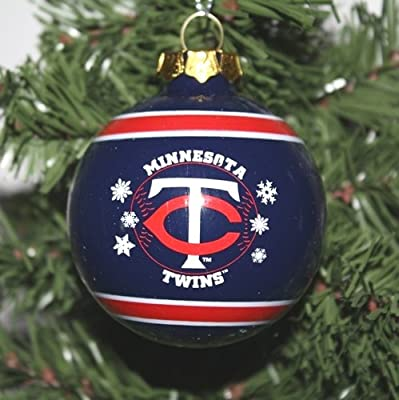 Minnesota Twins 2011 Snowflake Glass Ball Ornament