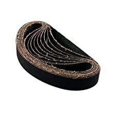 Makita 742302-5 1-1/8-Inch x 21-Inch Abrasive Sanding Belts - 60 Grit (10pk)