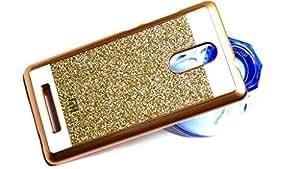 RIdhaniyaa [XIAOMI MI NOTE3] Glittering Sparkle Hard Back Cover - (Gold,Transparent)