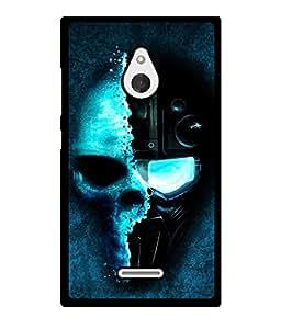 Fuson 2D Printed Skull Designer back case cover for Nokia XL - D4352