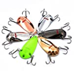 Hisea 6pcs Casting Fishing Spinner Cr...