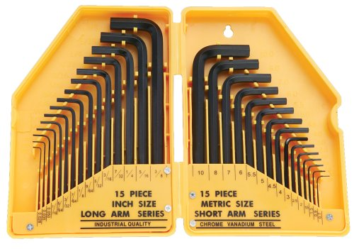 Fuller Tool 130-8030 30-Piece Combo SAE/Metric Hex Key Set
