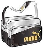 [プーマ] PUMA Enamel Shiny B Shoulder M 073279 03 (ブラック/シルバー メタリック/チーム ゴールド)