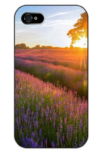 Sprawl Unique Clear Design Lavender Felds Under Sunset Protective Hard Plastic Snap On Iphone 5 5S Case Flower Of Life front-63422