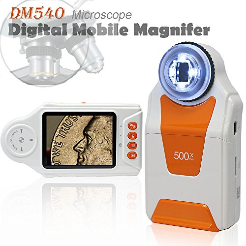 Indigi Digital Mobile Magnifier MicroScope 500x ZOOM w/ Camera & Video Mode NEW