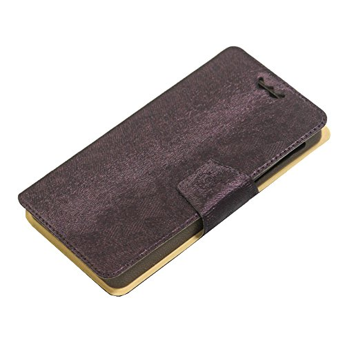 Jo Jo Cover Krish Series Leather Pouch Flip Case With Silicon Holder For Apple iphone 6 16GB Dark Brown
