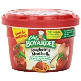 Chef Boyardee Spaghetti & Meatballs in Tomato Sauce, 7.5-Ounce Microwavable Bowls (Pack of 12) ~ Chef Boyardee