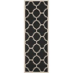Safavieh Courtyard Collection CY6243-266 Black and Beige Indoor/ Outdoor Runner, 2 feet 3 inches by 8 feet (2\'3\