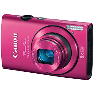 Canon PowerShot ELPH 310 HS 12.1 MP CMOS Digital Camera with 8x Wide-Angle Optical Zoom Lens and Full 1080p HD Video (Pink)