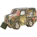 Magideal Kids Money Coin Paper Saving Military Camouflage Mini Piggy Box Toy Gift