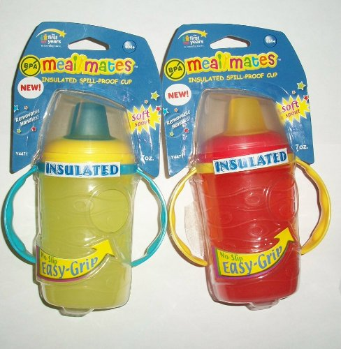 Meal Mates Insulated Easy Grip Soft Spout Sippy Cup - Choose Color - 1