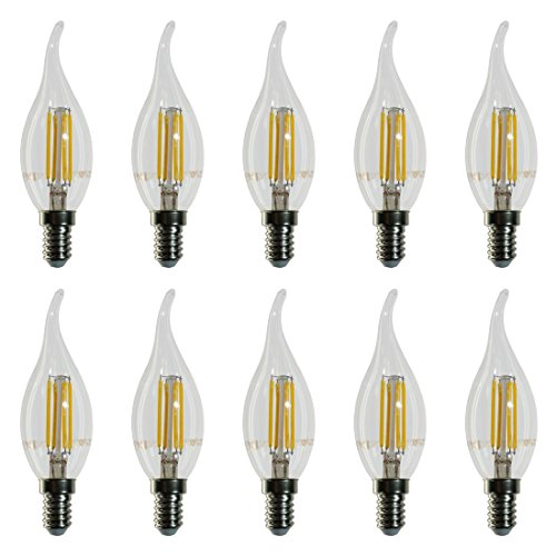 10-pezzi-4302-V-TAC-Lampadina-Filamento-LED-Candela-fiamma-Casquillo-E14-Potenza-4W-sostituisce-40-W-Luce-Bianca-Calda-2700K-400-lm-Angolazione-fascio-luce-300