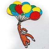 ノーブランド品 おさるのジョージ ひとまねこざる キャラクター ワッペン カラフル