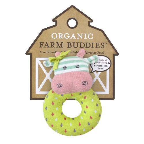 Organic Farm Buddies Rattle, Belle The Cow Color: Belle The Cow Toy, Kids, Play, Children front-699797
