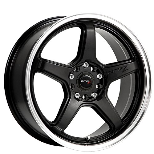 Drifz Circuit 16x7 Black Wheel / Rim 5x100 & 5x4.5 with a 42mm Offset and a 73.00 Hub Bore. Partnumber 304MB-6701842