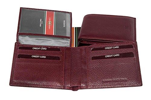 Portafoglio uomo EC CONTEMPORARY BY COVERI bordeaux carte credito e patta A4242