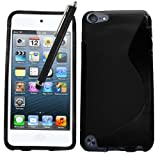 Samrick S Wave Coque de protection hydrogel pour iPod Touch 5/5G avec film de protection �cran, chiffon de nettoyage en microfibre et stylet pour �cran tactile