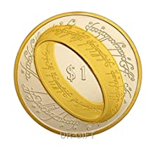 buy The Lord Of The Rings 24K Gold And Silver Plated Commemorative Collectible Coin 1 Oz