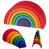 Grimm's Toys Rainbow stacking toy-small