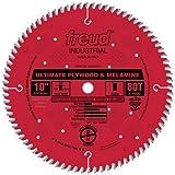 Freud LU80R010 10-Inch 80 Tooth Hi-ATB Ultimate Plywood and Melamine Cutting Saw Blade with 5/8-Inch Arbor