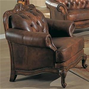 Amazon.com - Chair Button Tufted Nail Head Trim Tri-Tone Leather