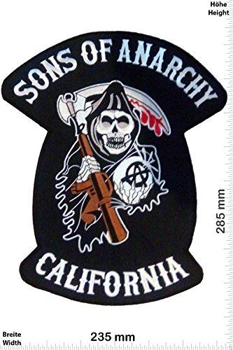 "Patch - Sons of Anarchey - 28 cm -BIG - Bigpatch - Biker - Sons of Anarchy- toppa - applicazione - Ricamato termo-adesivo - Patch"""