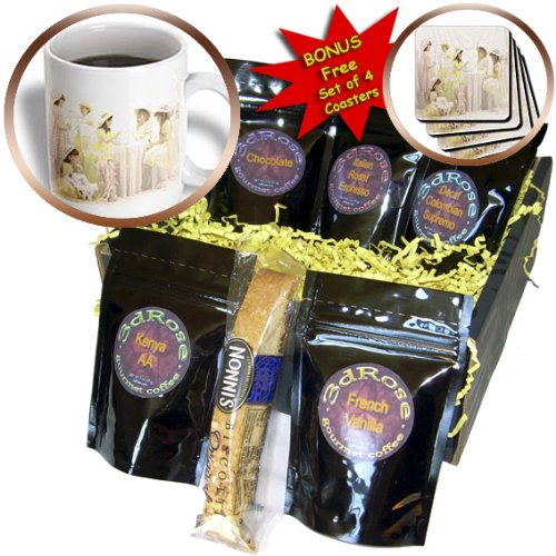 Cgb_20310_1 Florene Childrens Art - Tea Party - Coffee Gift Baskets - Coffee Gift Basket