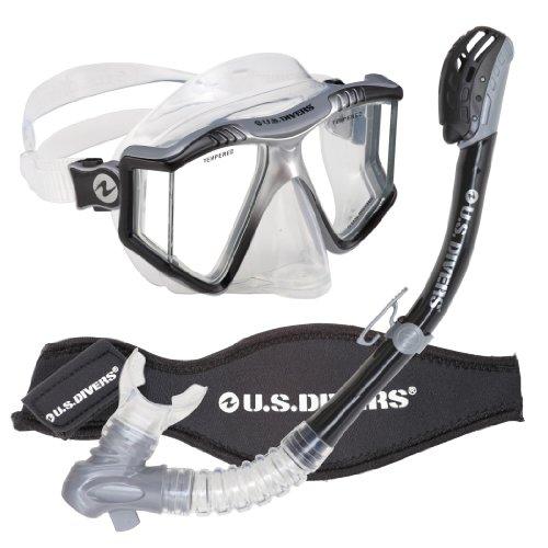 U.S. Divers Lux Purge Grenada LX Snorkel Mask (Black)