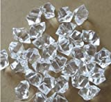 200pcs White Clear Acrylic Crystal Aquarium Fish Tank Stones Gems Diamond look Stone for Vase aquarium bowl or bird baths Decor