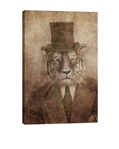 Terry Fan Sir Tiger Gallery Wrapped Canvas Print