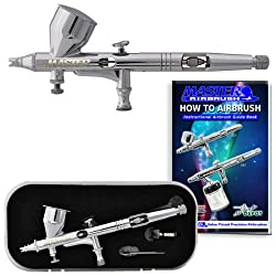 Master Airbrush® Precision Dual-action Airbrush for Fine Detail Graphic Art By TCP Global. Now Included Is a (FREE) How to Airbrush Training Book to Get You Started, Published Exclusively By TCP Global.