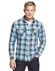 XXXL North Coast Pure Cotton Checked Shirt