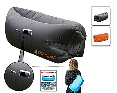 Top Tiger Komfortable Praktische aufblasbare Hangout Sofa Luft gefüllt Sleeping Compression mit Seitentasche
