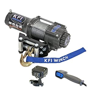 kfi products a3000 atv winch kit 3000 lbs. Black Bedroom Furniture Sets. Home Design Ideas