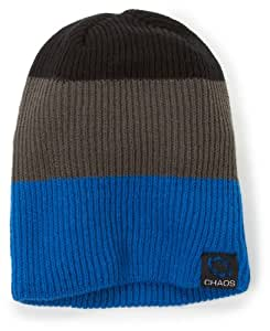 Chaos Men's Crescent Acrylic Slouch Beanie (Blue/Grey/Black, One Size)
