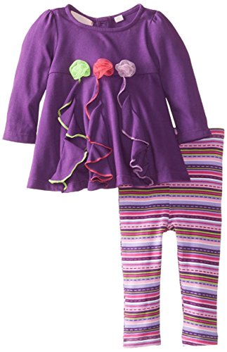 Kids Headquarters Baby-Girls Newborn 2 Pieces Tunic And Legging With Butterfly, Purple, 3-6 Months front-780189