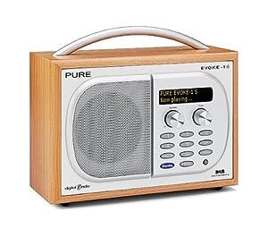 Pure EVOKE-1S, Luxury Portable DAB/FM Radio - Cherry