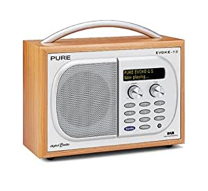 Pure EVOKE-1S, Luxury Portable DAB/FM Radio - Cherry