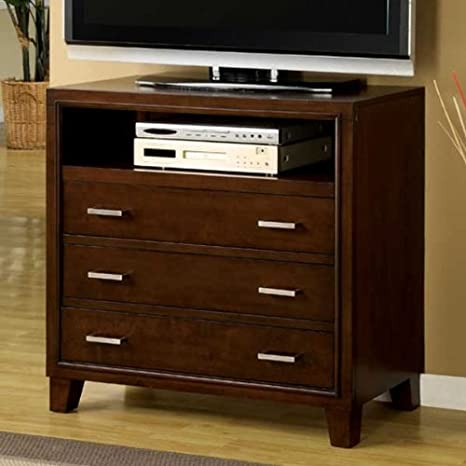 Enrico Brown Cherry Finish Media Chest