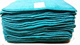 Turquoise Cotton & Velour Cloth Baby Wipes Washable Reusable 25