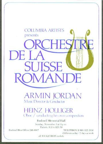 Heinz Holliger Oboe Orchestre Suisse Romande Flyer 1985