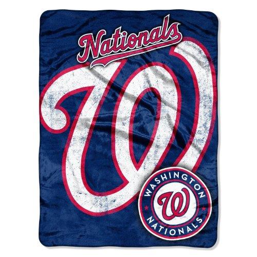Washington Nationals Micro Raschel Plush Throw Blanket front-502661