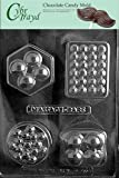 Cybrtrayd M170 4 Shape Massage Bar Chocolate Candy Mold with Exclusive Cybrtrayd Copyrighted Chocolate Molding Instructions