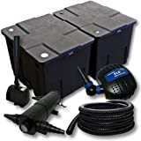 Kit de filtration de bassin Filtre 60000l Pompe éco Stérilisateur UVC 36W Tuyau 25m Pompe Fonaine